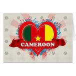 Vintage I Love Cameroon Greeting Card