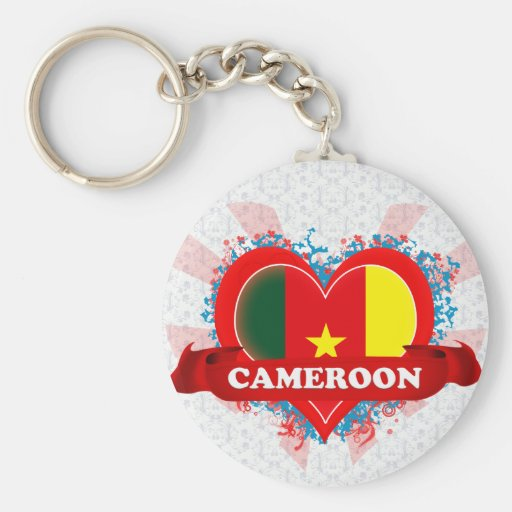 Vintage I Love Cameroon Keychain