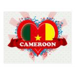 Vintage I Love Cameroon Postcard