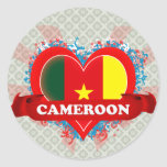 Vintage I Love Cameroon Stickers