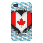 Vintage I Love Canada Covers For iPhone 4