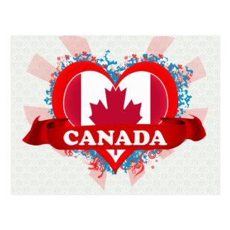 Vintage I Love Canada Post Card