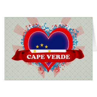 Vintage I Love Cape Verde Greeting Card