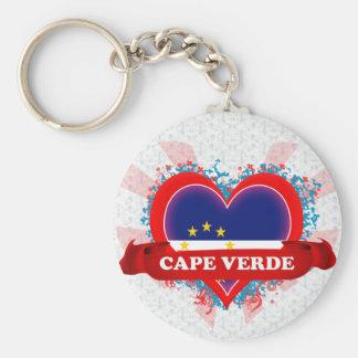 Vintage I Love Cape Verde Keychain