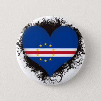 Vintage I Love Cape Verde Pinback Button