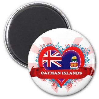 Vintage I Love Cayman Islands 2 Inch Round Magnet