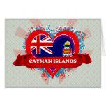 Vintage I Love Cayman Islands Card