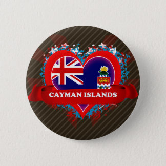 Vintage I Love Cayman Islands Pinback Button