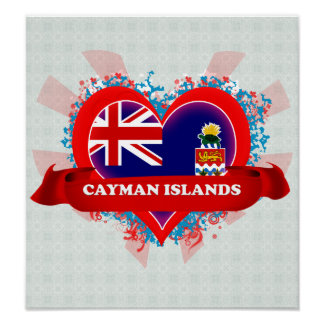 Vintage I Love Cayman Islands Print