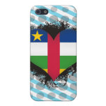 Vintage I Love Central African Republic Covers For iPhone 5