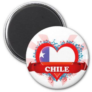 Vintage I Love Chile 2 Inch Round Magnet