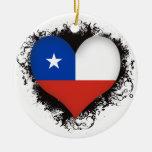 Vintage I Love Chile Christmas Ornaments
