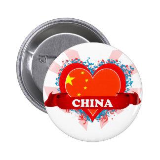 Vintage I Love China Pins