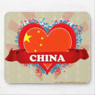 Vintage I Love China Mouse Pad