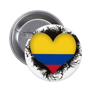 Vintage I Love Colombia Pin