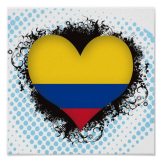 Vintage I Love Colombia Posters