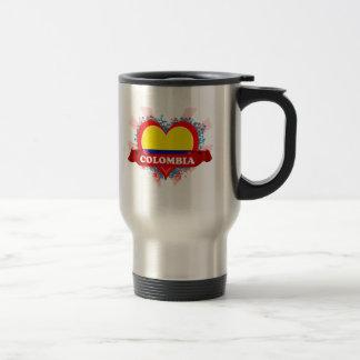 Vintage I Love Colombia Travel Mug