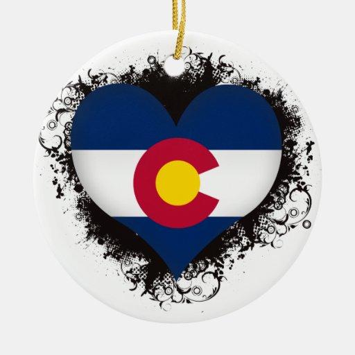 Vintage I Love Colorado Ornament