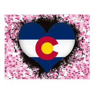 Vintage I Love Colorado Postcard