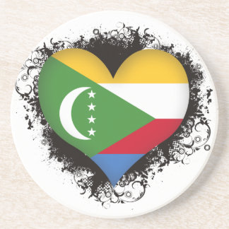 Vintage I Love Comoros Drink Coasters