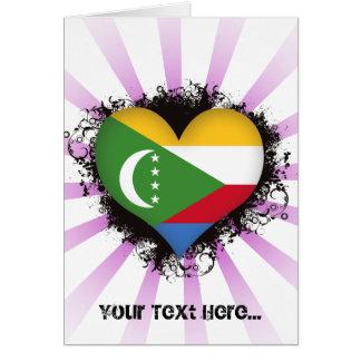 Vintage I Love Comoros Greeting Card
