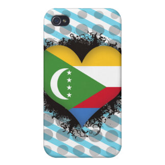 Vintage I Love Comoros iPhone 4/4S Covers