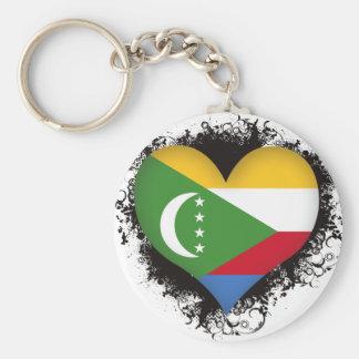 Vintage I Love Comoros Keychain