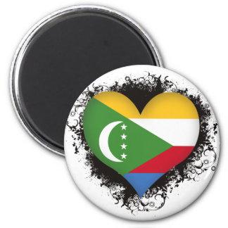 Vintage I Love Comoros Magnets