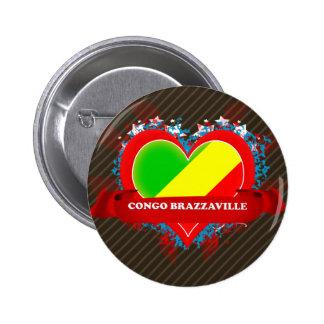 Vintage I Love Congo Brazzaville Pinback Button