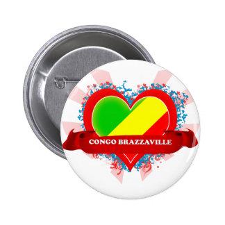 Vintage I Love Congo Brazzaville Pins