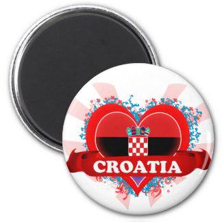 Vintage I Love Croatia Magnet