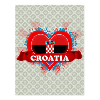 Vintage I Love Croatia Postcard