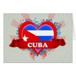 Vintage I Love Cuba Card