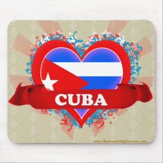 Vintage I Love Cuba Mouse Pad