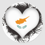 Vintage I Love Cyprus Sticker
