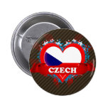 Vintage I Love Czech Buttons
