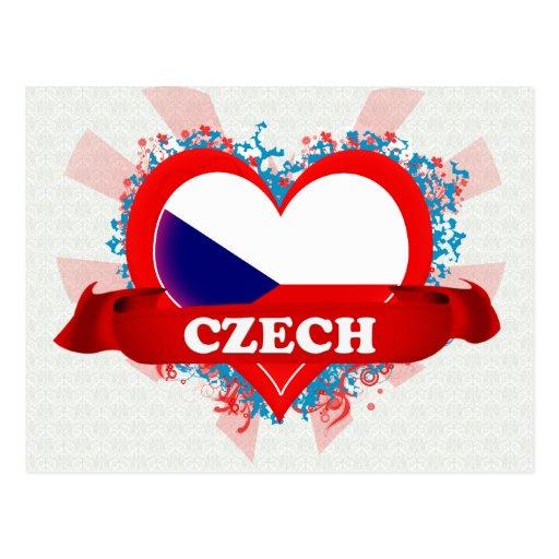Vintage I Love Czech Postcards