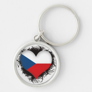 Vintage I Love Czech Republic Keychain