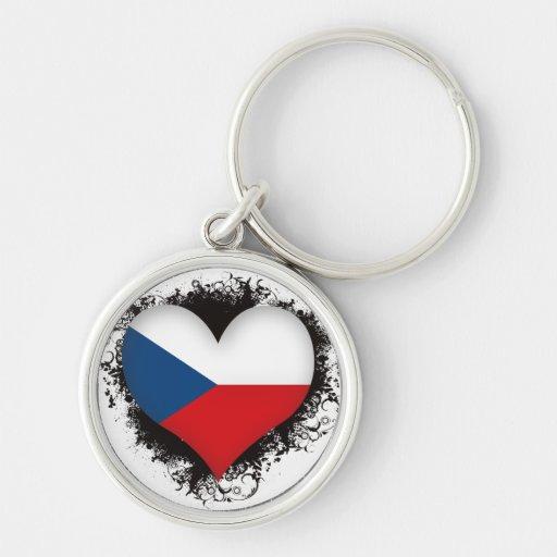 Vintage I Love Czech Republic Key Chain