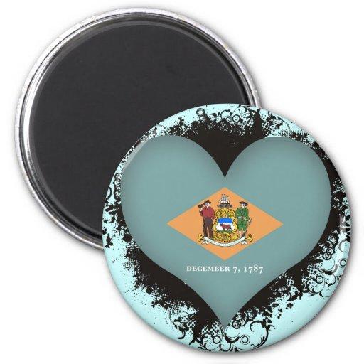 Vintage I Love Delaware Magnets
