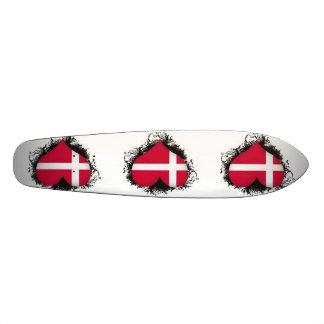 Vintage I Love Denmark Custom Skateboard