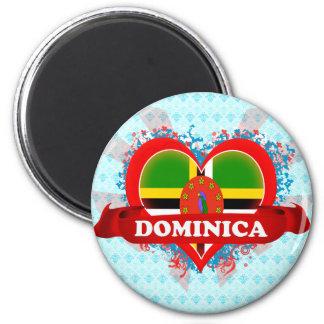 Vintage I Love Dominica Magnet