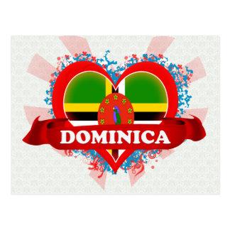 Vintage I Love Dominica Postcard