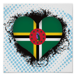 Vintage I Love Dominica Print