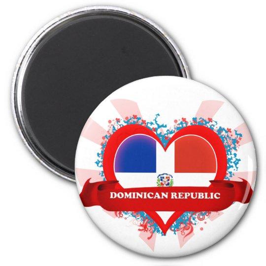 Vintage I Love Dominican Republic Magnet
