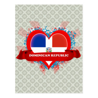 Vintage I Love Dominican Republic Postcard