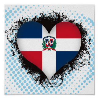 Vintage I Love Dominican Republic Poster
