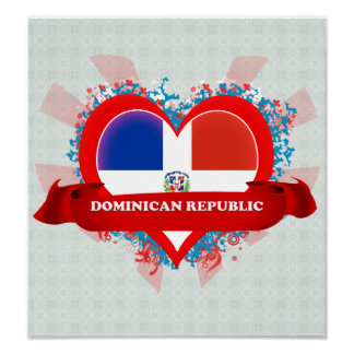 Vintage I Love Dominican Republic Posters