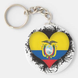 Vintage I Love Ecuador Keychain