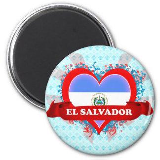 Vintage I Love El Salvador 2 Inch Round Magnet